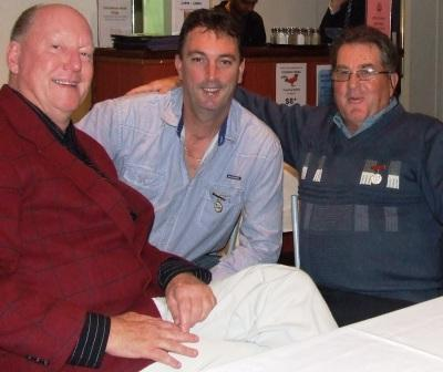"Welded-on Life Members: L-R Peter ""PG"" Gardiner, Jim McKenzie and Ray Storey."