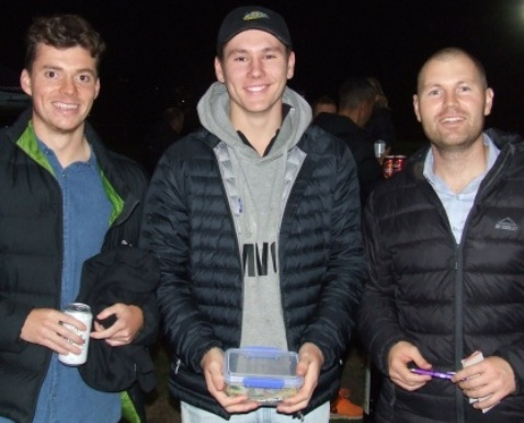 Some of our young guns were on the collect for raffle tickets. L-R First Eleven bowling award winner Dan Comande, First Eleven captain and MVP Jack Newman and Fifths captain Dominic Rettino.