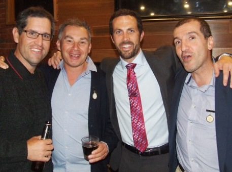 A selection of committee members and Life Members: L-R Brendan Rhodes, Dean Jukic, Michael Ozbun and Jim Polonidis.