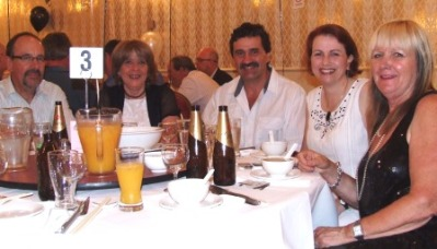 Enjoying themselves on the Leigh Matthews Table (No. 3) at the 40th were L-R: Alan and Sandra Thomas, Tony Gleeson, Nicole McLachlan and Adele Walker - all past players (except Sandra).