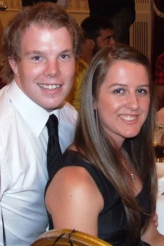Committee member and key player Evan Blythe with fiancee Michelle van der Merwe.