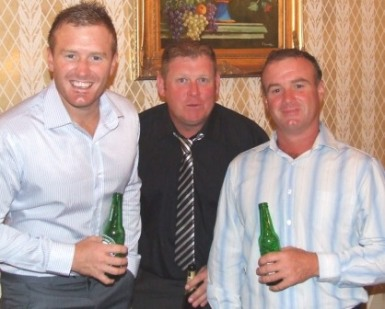 Part of the crop of current rascals making their own history at Moonee Valley: L-R Peter O'Kane, VP Simon Thornton and Sean O'Kane.l