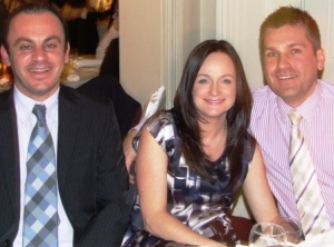 *Lots of wickets: Mark Cini (left) with Lisa and Paul Nicol.