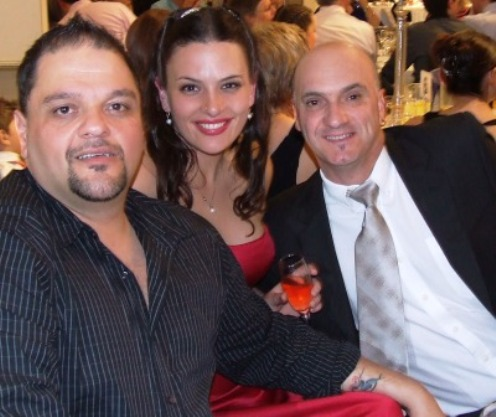 *Sandro and Kimmie Capocchi with Lou Raffaele (right)