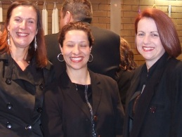 *At the Church: L-R: Victoria Thorneycroft, Agatha Soccio and Nicole McLachlan.