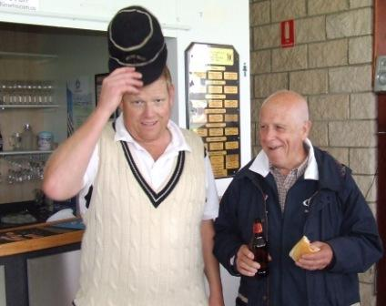 *Two legends - Moonee Valley's Darren Nagle and Carlton's Gary Schickerling.